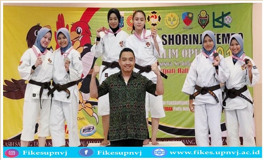 Juara 1 Embu Pasangan Putri Kyu I pada Kejuaraan Shorinji Kempo UNJ