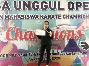 Motivasi Mendapatkan Juara 1 Kata Perorangan Putri Esa Unggul Karate Championship