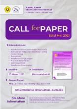 Call for Paper  Volume 13, Edisi 2, Mei 2021