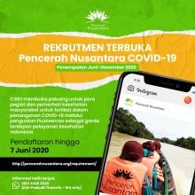 Rekrutmen Terbuka Pencerah Nusantara untuk COVID-19 (PN COVID-19)