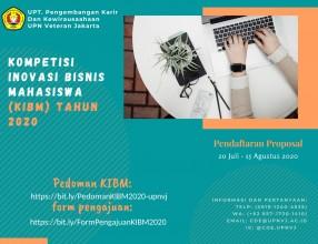 Kompetisi Inovasi Bisnis Mahasiswa (KIBM) Tahun 2020