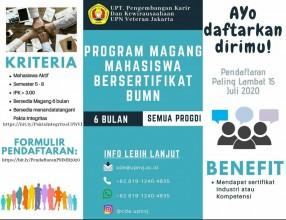 Program Magang Mahasiswa Bersertifikat BUMN Tahun 2020