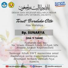 Turut Berduka Cita Atas Wafatnya Bp. Sunarya Ayahanda dari Ns. Wiwin Winarti, S.Kep, M.epid, MN