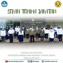 Serah Terima Jabatan Fakultas Ilmu Kesehatan UPN Veteran Jakarta