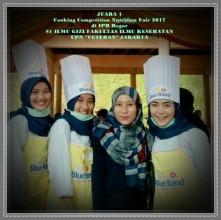Juara 1 Cooking Competition Nutrition Fair 2017 di IPB Bogor