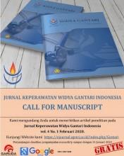Jurnal Keperawatan Widya Gantari Indonesia CALL FOR MANUSCRIPT