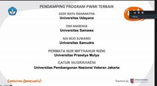 Selamat Atas Meraih Pendamping Program PWMI Terbaik dalam Rangka KMI 2020 Award Kategori KBMI
