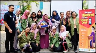 Mahasiswa Program Studi S1 Kesehatan Masyarakat Melakukan Promosi Kesehatan