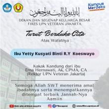 Turut Berduka Cita atas Wafatnya Yetty Kusyati binti R.Y. Koeswayo