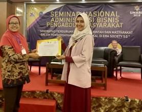 Selamat atas Meraih Best Presenter dalam Seminar Nasional  Administrasi  Bisnis Pengabdian Masyarakat (SINABIS) 2019 di UPNV Jawa Timur