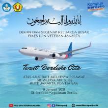 Turut Berduka Cita atas Musibah Jatuhnya Pesawat Sriwijaya Air SJ182