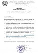 Proses Akademik Semester Genap Tahun Ajaran 2019/2020 Fakultas Ilmu Kesehatan UPN Veteran Jakarta
