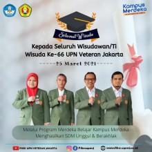 Selamat Kepada Mahasiswa Wisuda ke 66