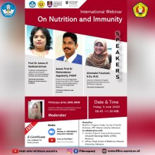 International Webinar On Nutrition and Immunity