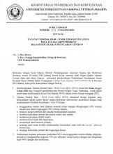 Tatanan Normal Baru / Work From Office (WFO) Bagi Tenaga Kependidikan Dalam Pencegahan Penularan COVID - 19