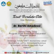 Turut Berduka Cita Atas Wafatnya dr. Berthi Amadessi