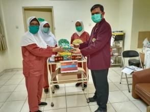 Serah Terima Donasi Kepada RSAB Harapan dari Program Stud Profesi Ners dan IPEMI DKI Jakarta