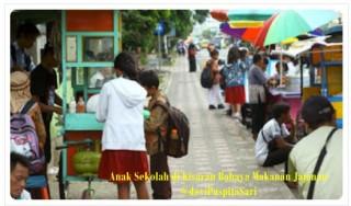 Anak Sekolah Di kisaran Bahaya Makanan Jajanan