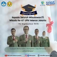 Selamat Untuk Wisudawan/ti Ke 67 FIKES UPN Veteran Jakarta