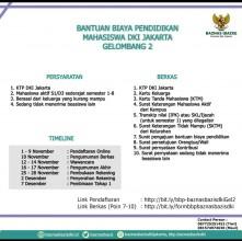Bantuan Biaya Pendidikan Mahasiswa DKI Jakarta Gelombang 2