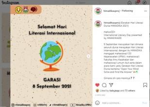 "HIMADIKA : Gerakan Hari Literasi Internasional (GARASI) ""Open Your Mind Solve and Find the Answer"""