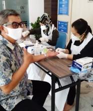 Kolaborasi Rapid Test Masal Civitas FIKES dan FT UPNVJ