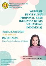 Webinar Penyusunan Proposal KBMI (Kegiatan Bisnis Mahasiswa Indonesia)