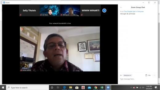 Rapat Evaluasi Pembelajaran Jarak Jauh Melalui Zoom Meeting Fakultas Ilmu Kesehatan Universitas Pembangunan Nasional Veteran Jakarta